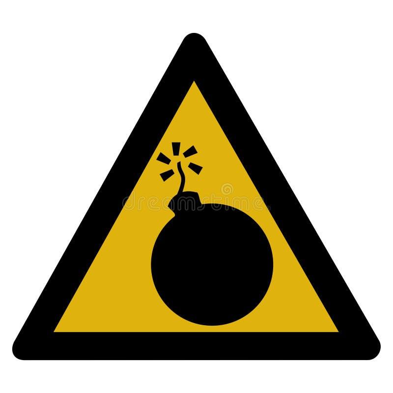 bombowy szyldowy ostrzeżenie ilustracja wektor