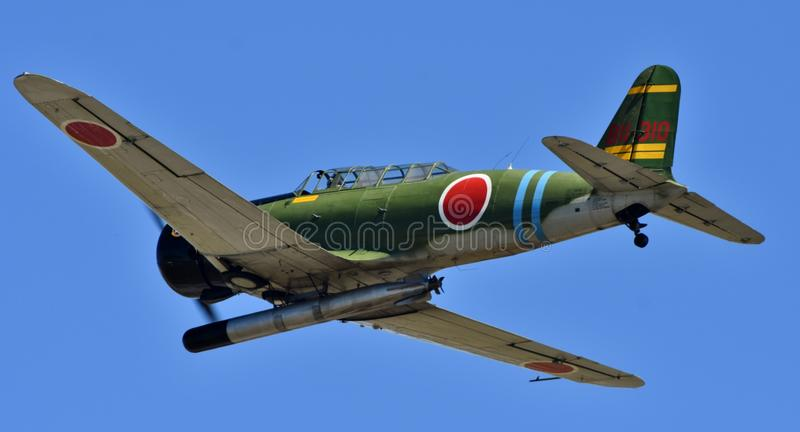 Bombplan för japanNakajima B5N torped royaltyfri fotografi