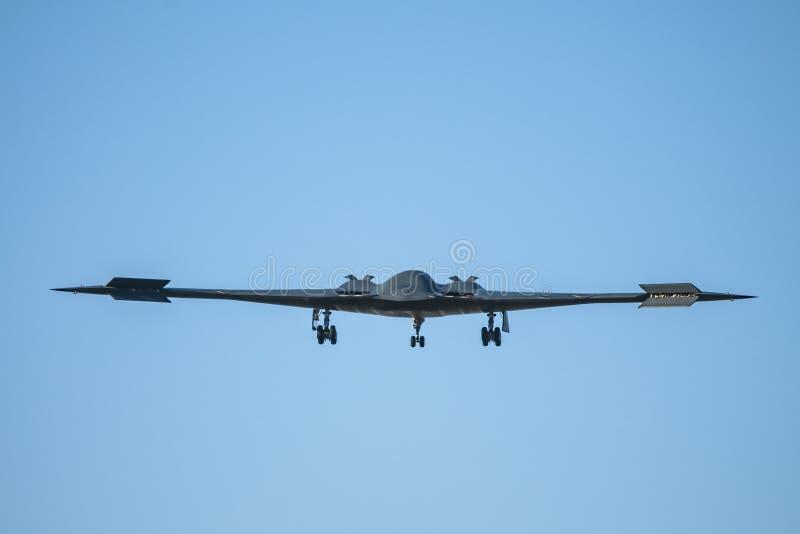 Bombplan för Stealth för Förenta staternaflygvapen B-2 arkivfoton