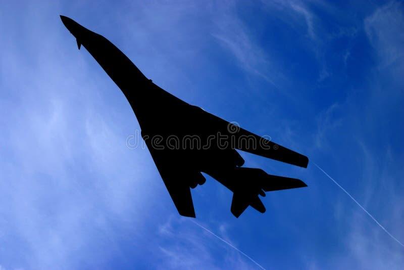 Bombplankontur för B 1 royaltyfri fotografi