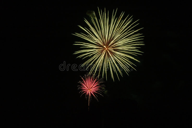 Bombs Bursting In Air royalty free stock images