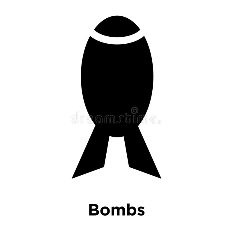Bombs icon vector isolated on white background, logo concept of stock illustration