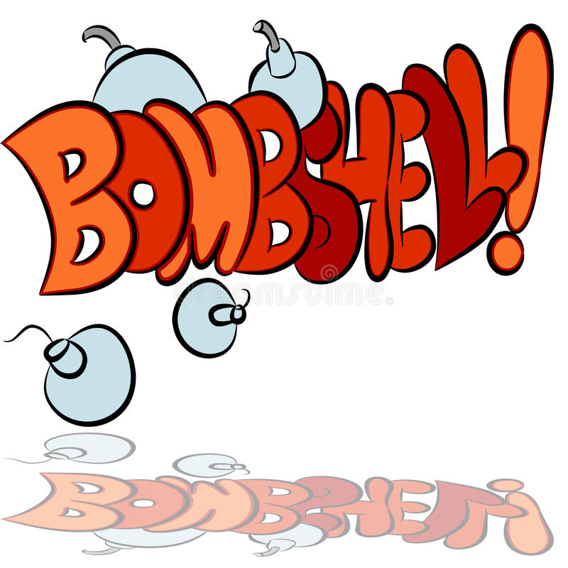 Download Bombshell Sound Effect Text Stock Vector - Illustration: 20047730