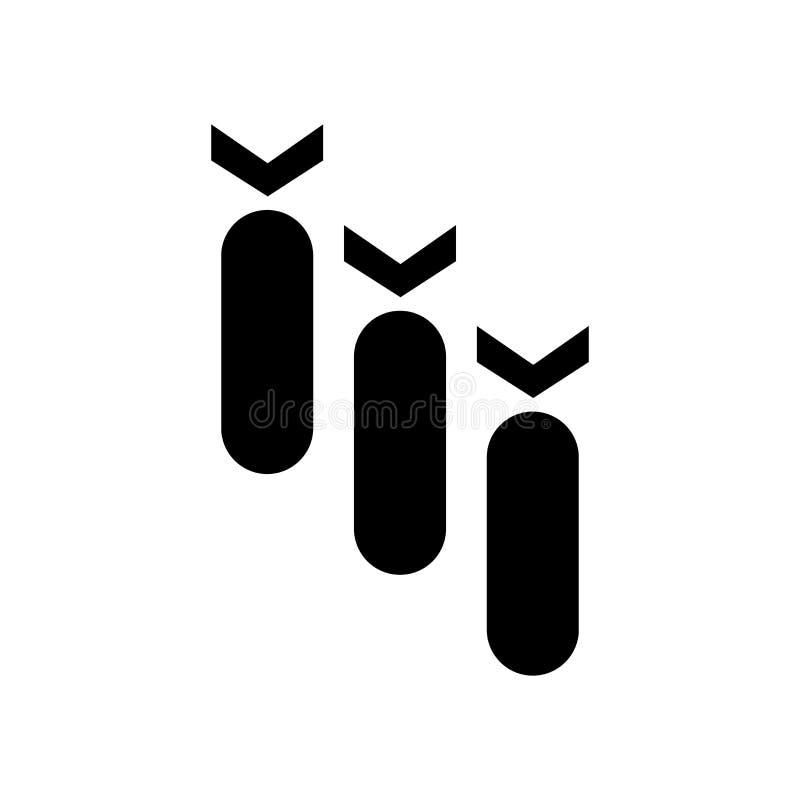 Bomby ikony wektoru znak i symbol odizolowywający na białym tle, bomba logo pojęcie ilustracja wektor