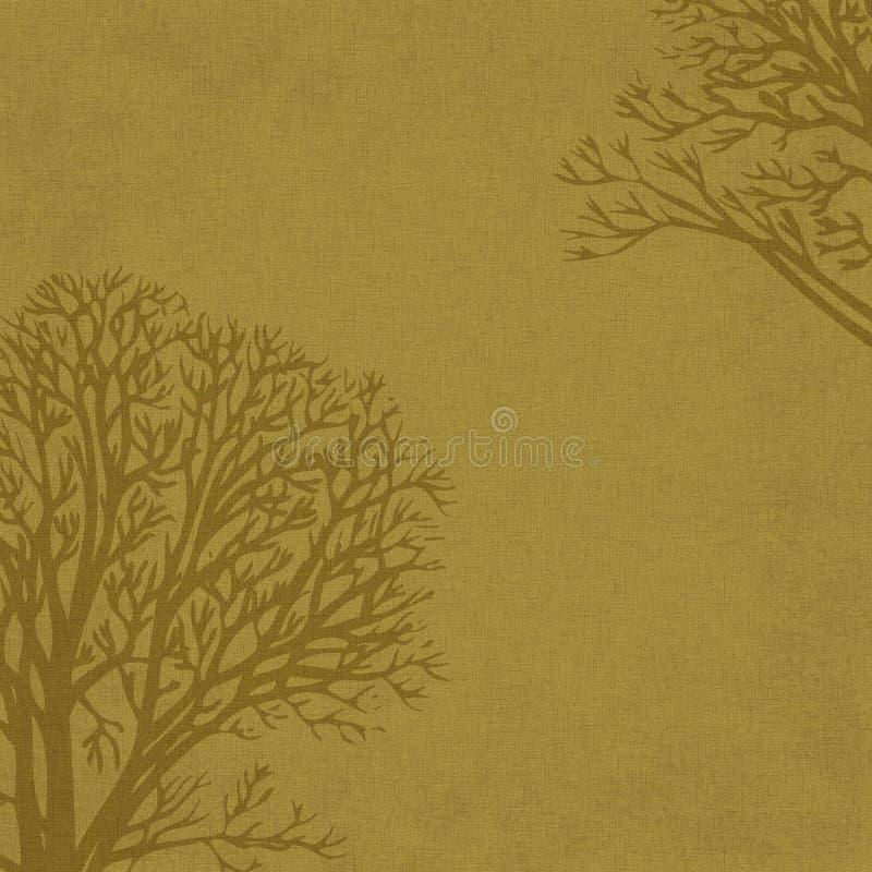 Bomen de achtergrond van de Winter op Linnen stock afbeelding