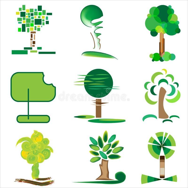 Bomen en gras royalty-vrije stock foto's