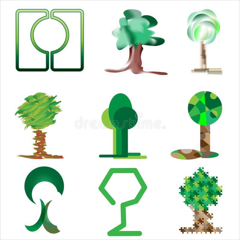 Bomen en gras II royalty-vrije stock foto's