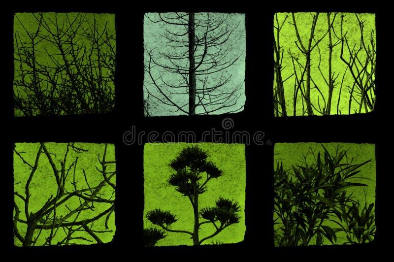 Bomen en installaties stock illustratie
