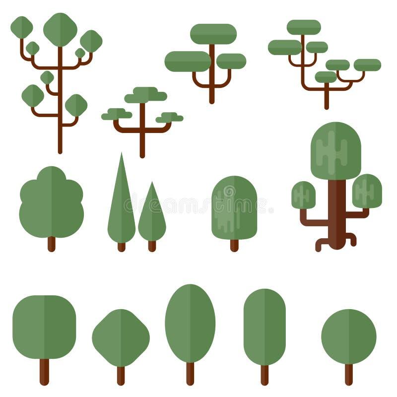 Bomen en struiken stock illustratie