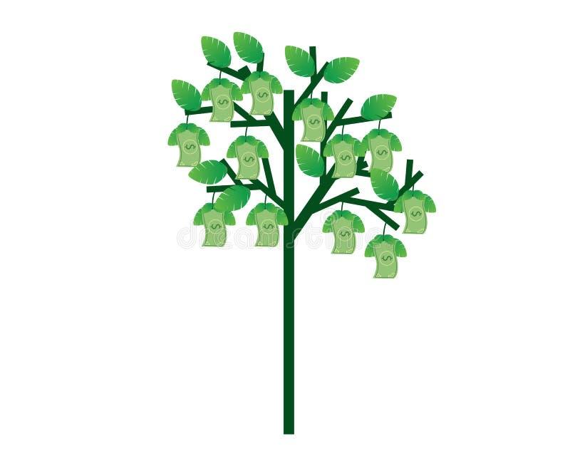 Bomen met fruit in de vorm van geld royalty-vrije illustratie