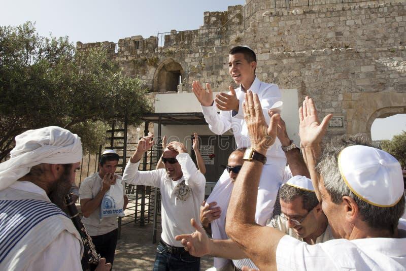Bomma för Mitzvah, Jerusalem, Israel arkivbild