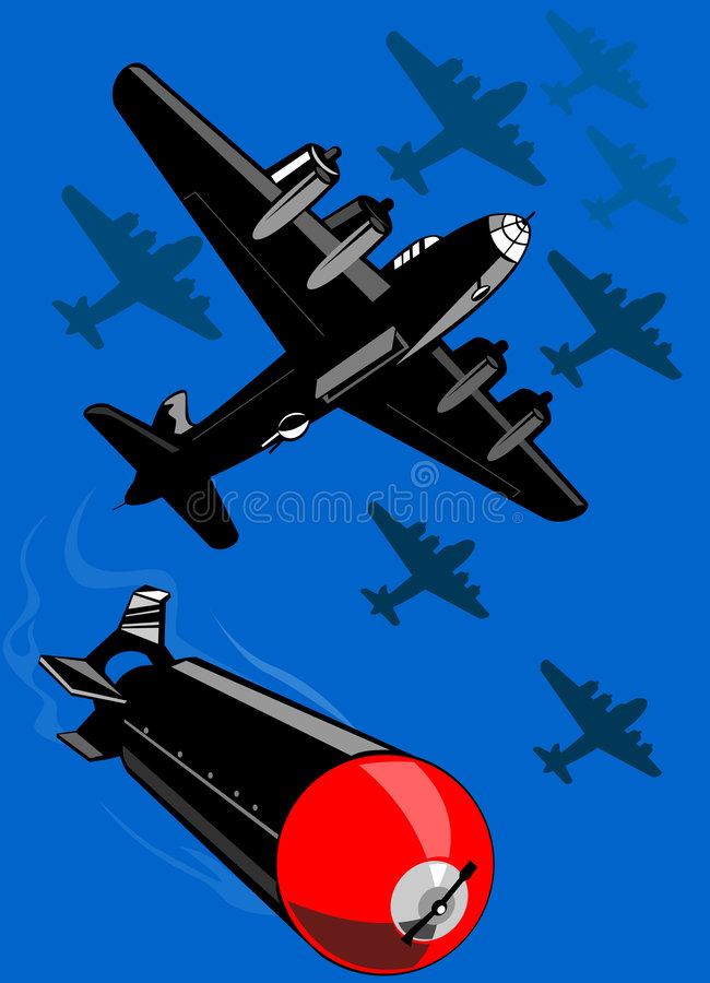 Bommenwerpers vector illustratie