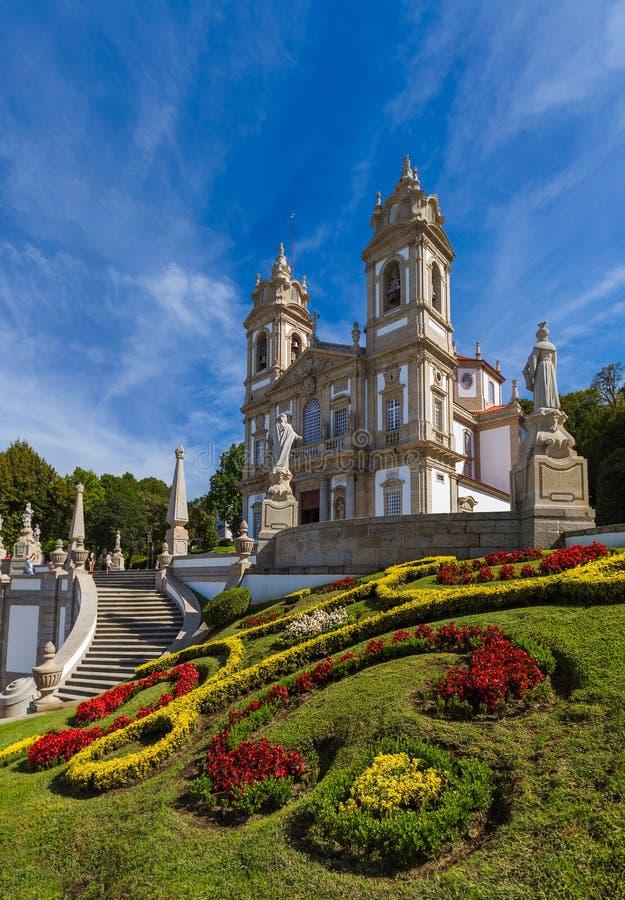 Bomu Jezusowy kościół w Braga, Portugalia - fotografia royalty free