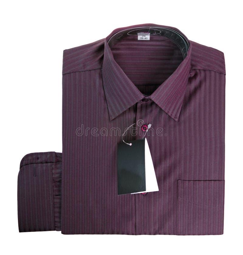bomullspurpleskjorta royaltyfria bilder