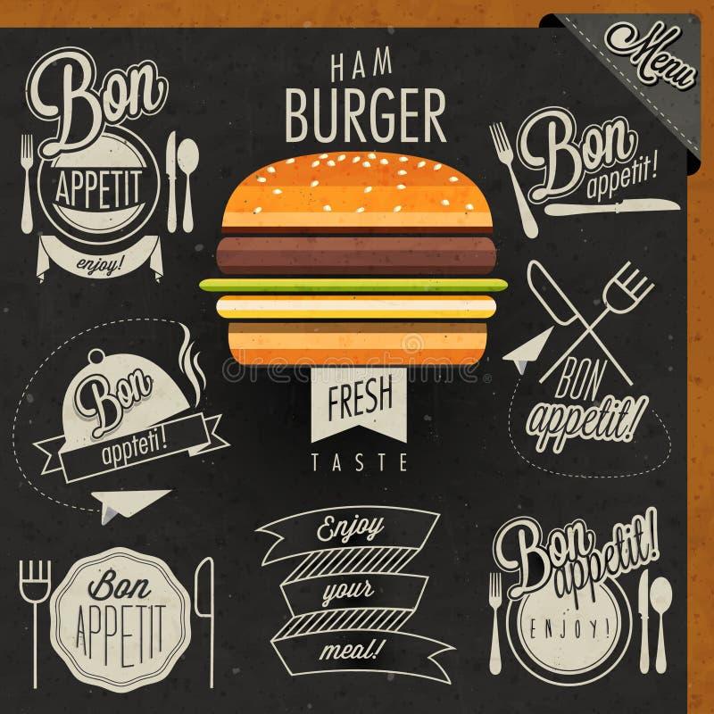 Bon Appetit! Насладитесь вашей едой! иллюстрация штока