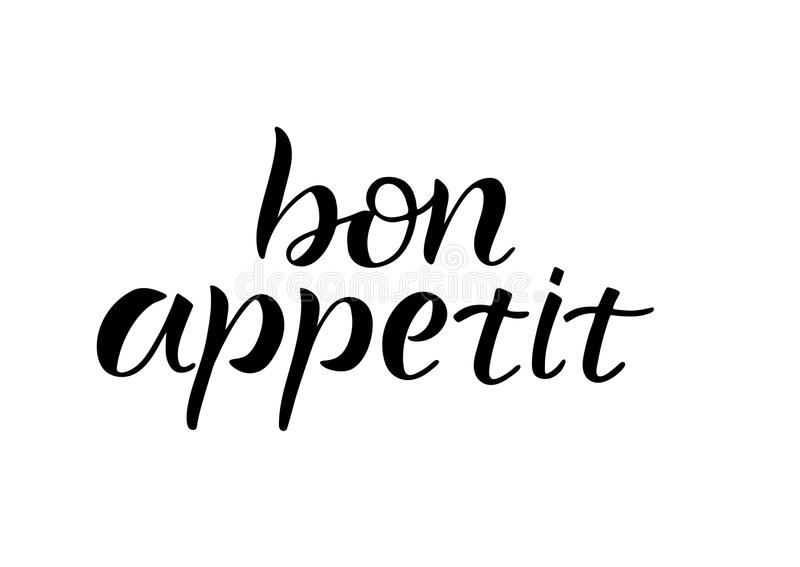 Bon Appetit stock illustrationer