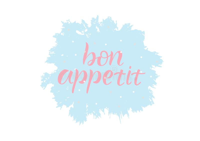Bon Appetit royaltyfri illustrationer