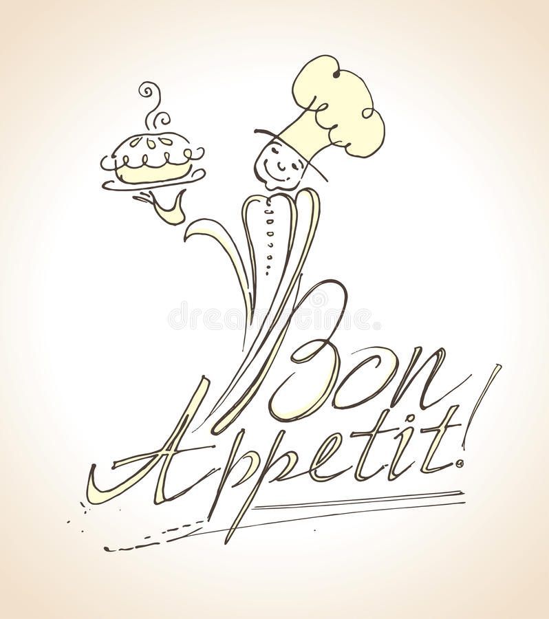 Bon Appetit! stock illustrationer