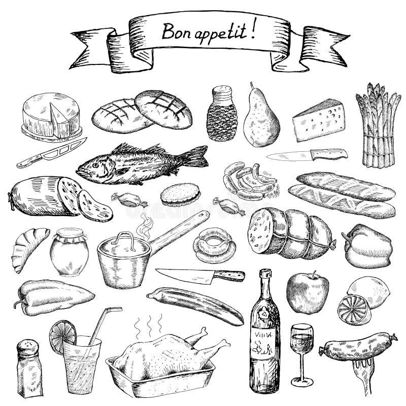 Bon appetit stock abbildung