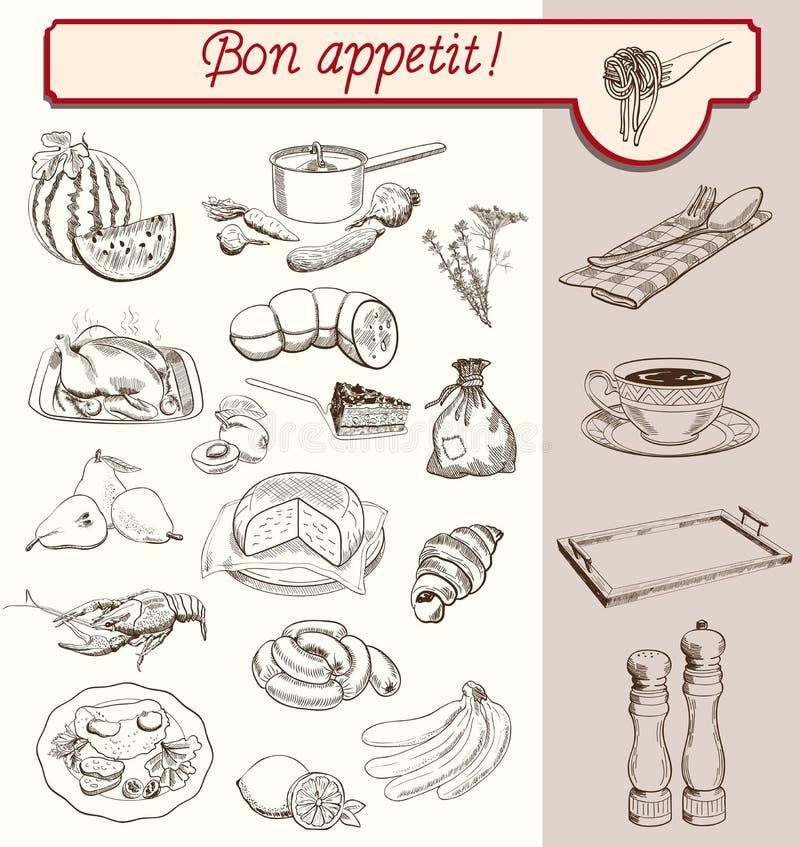 Bon Appetit illustration de vecteur