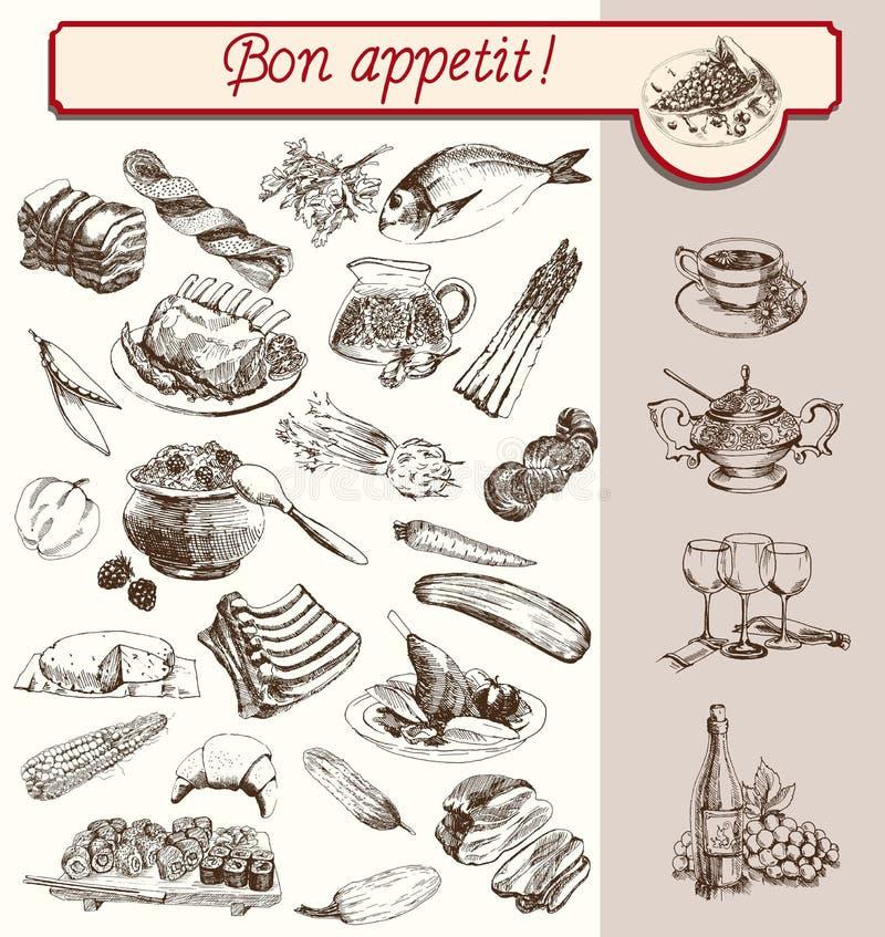 Bon Appetit illustration stock