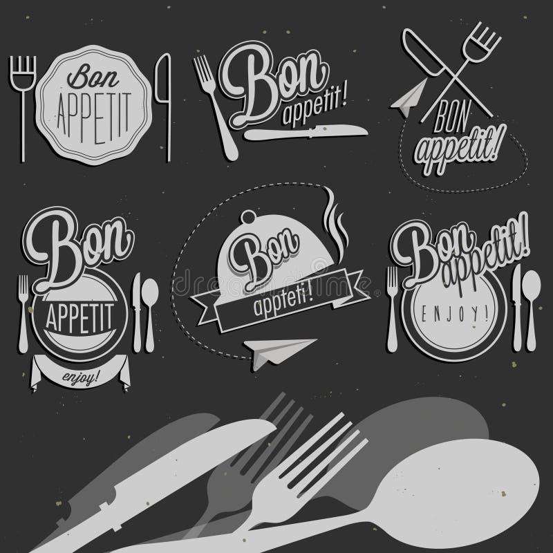 Bon Appetit ! Appréciez votre repas ! illustration stock