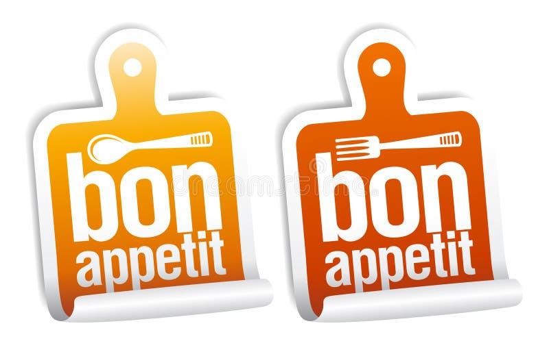 Bon appetit Aufkleber. stock abbildung