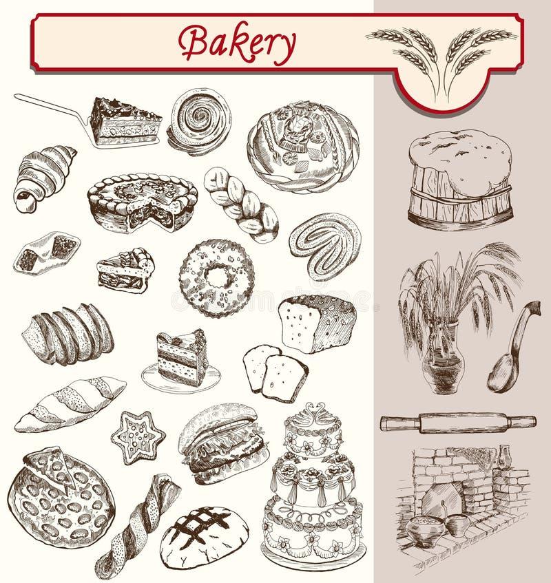 Bon appetit Bäckerei vektor abbildung