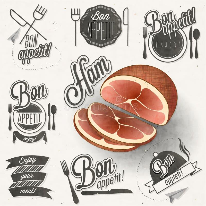 Bon Appetit! Genießen Sie Ihre Mahlzeit! vektor abbildung