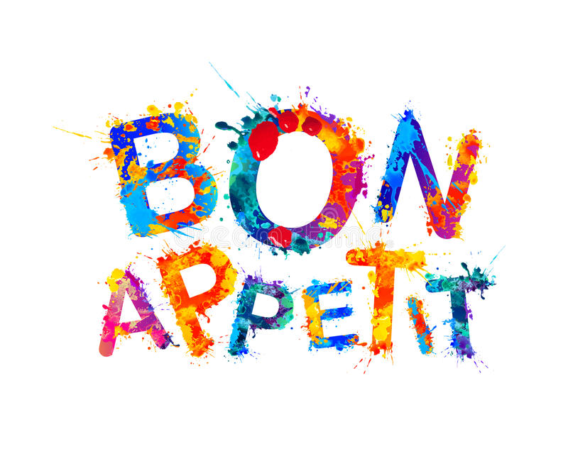 Bon Appetit god aptit stock illustrationer