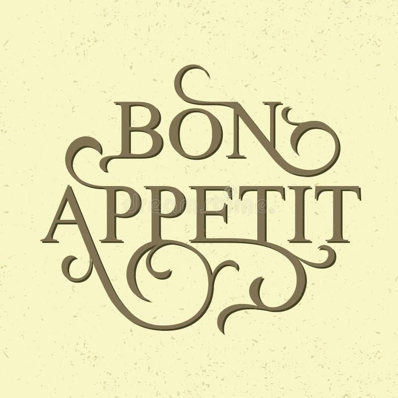 Bon Appetit vektor abbildung