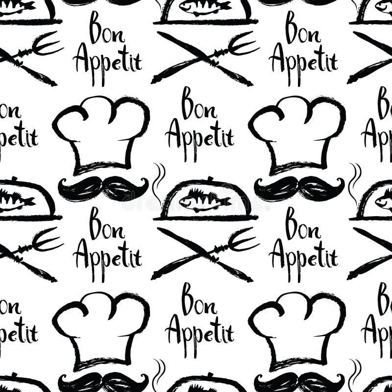 Bon Appetit-Hintergrund lizenzfreie abbildung