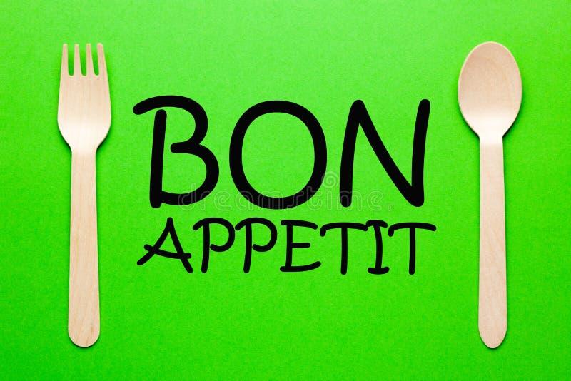 Bon appetit Konzept lizenzfreie stockfotos