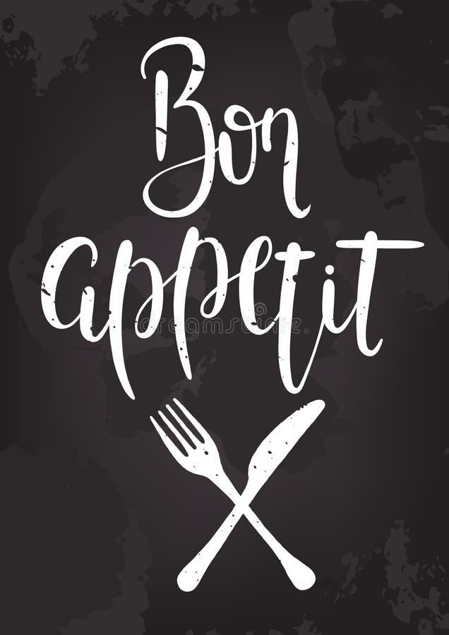 Bon appetit Plakat vektor abbildung