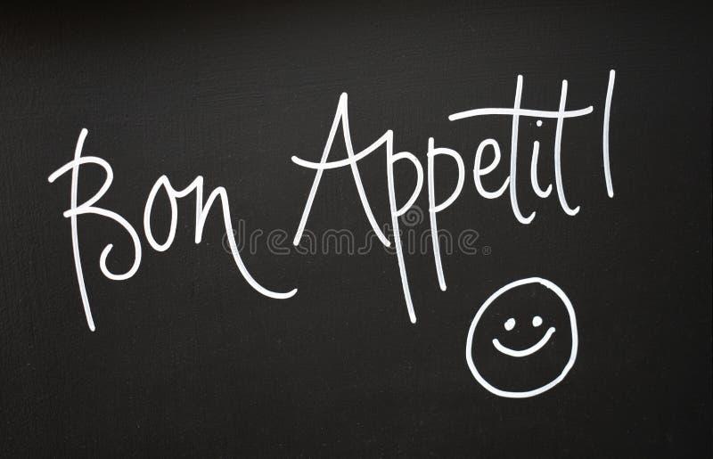 Bon Appetit tecken arkivfoto