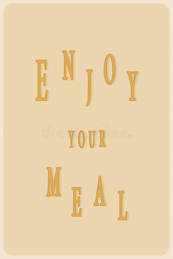 Bon appetit written on a yellow flyer vector illustration