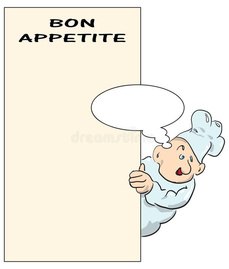 Download Bon appetite stock vector. Image of draw, drawing, menu - 23879788
