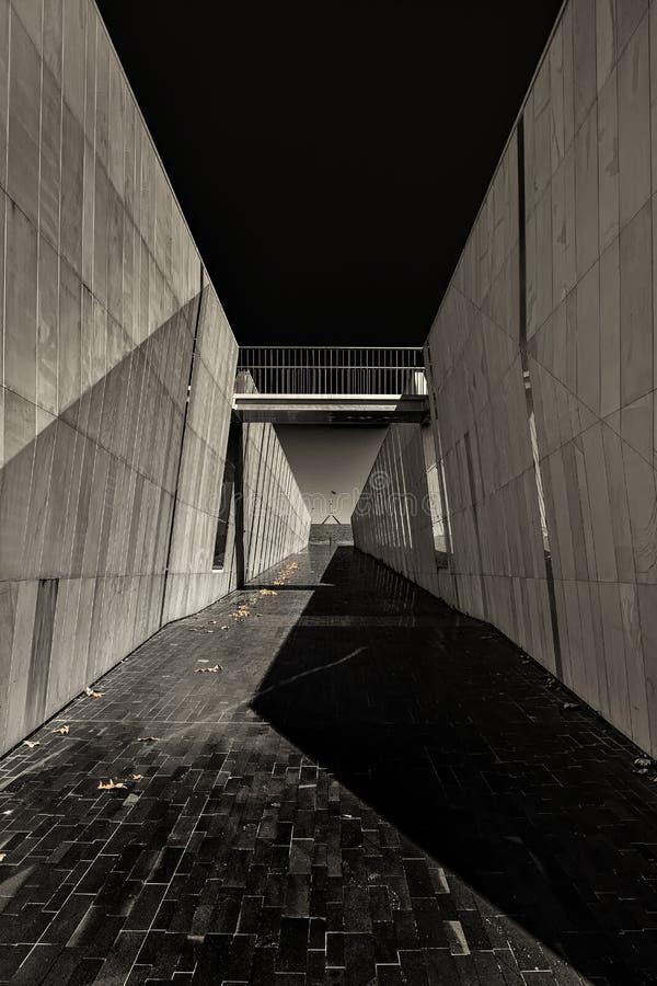 Bon Art Autumn noir et blanc à Canberra photos libres de droits