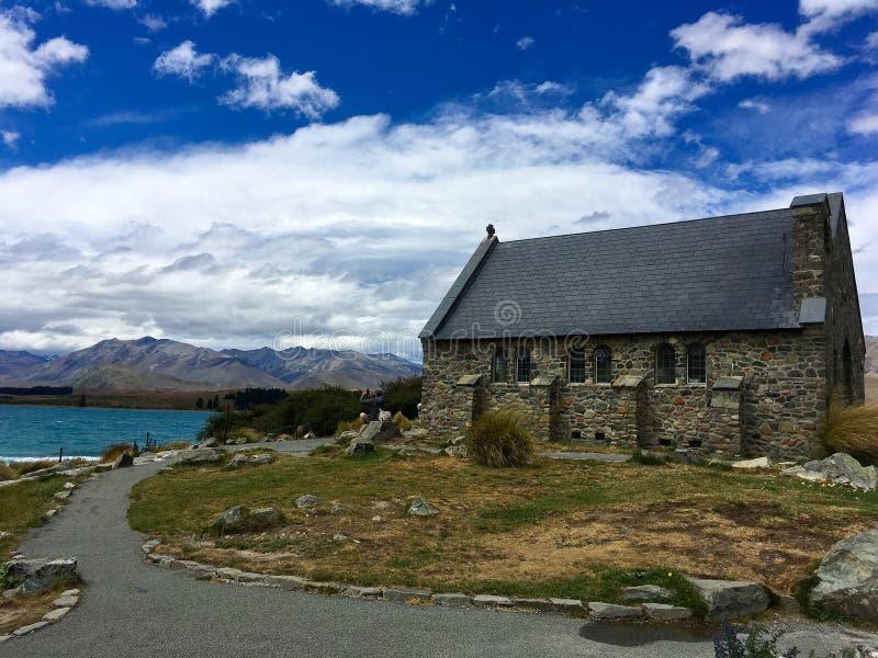 Bon berger Church au Nouvelle-Zélande image stock