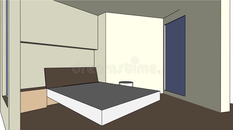 Bon chambre à coucher-bon rêve illustration libre de droits