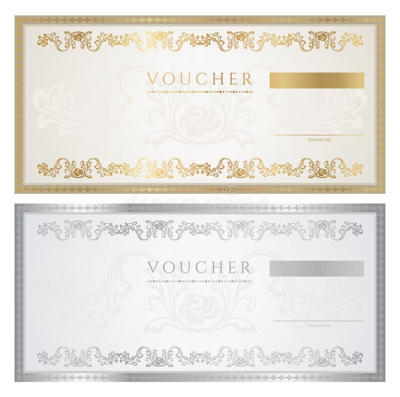 Bon/coupon vector illustratie