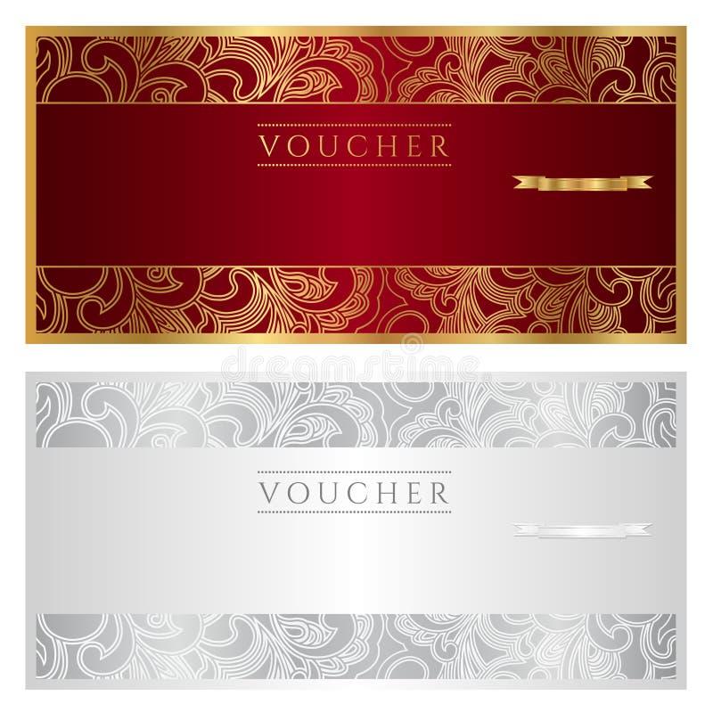 Bon/coupon/gift vector illustratie