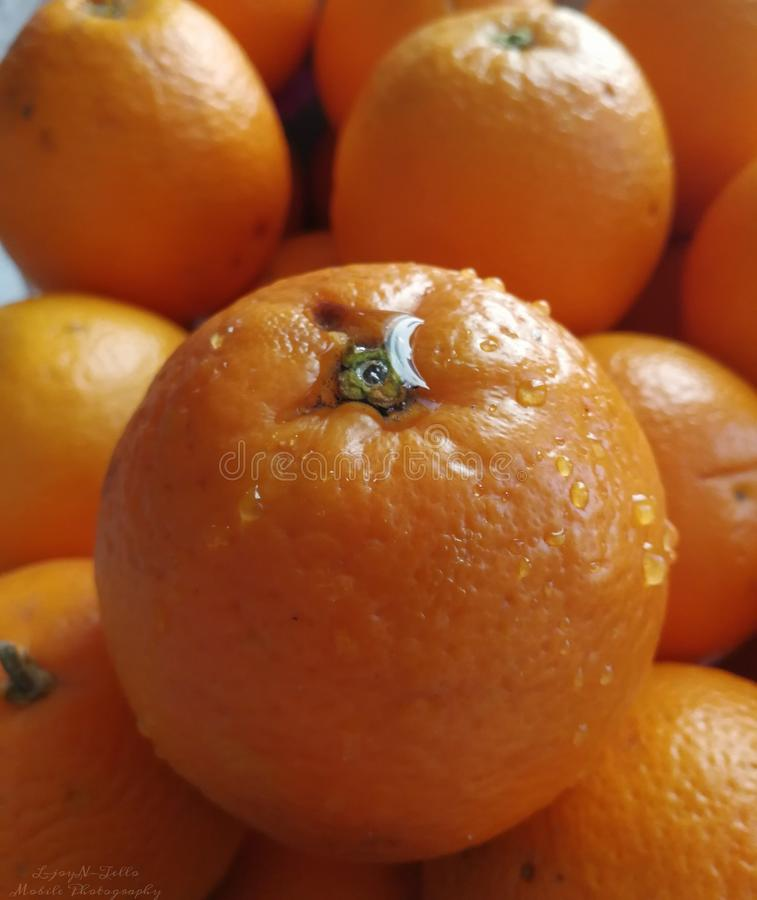 Bon délicieux d'oranges pour la santé photographie stock libre de droits