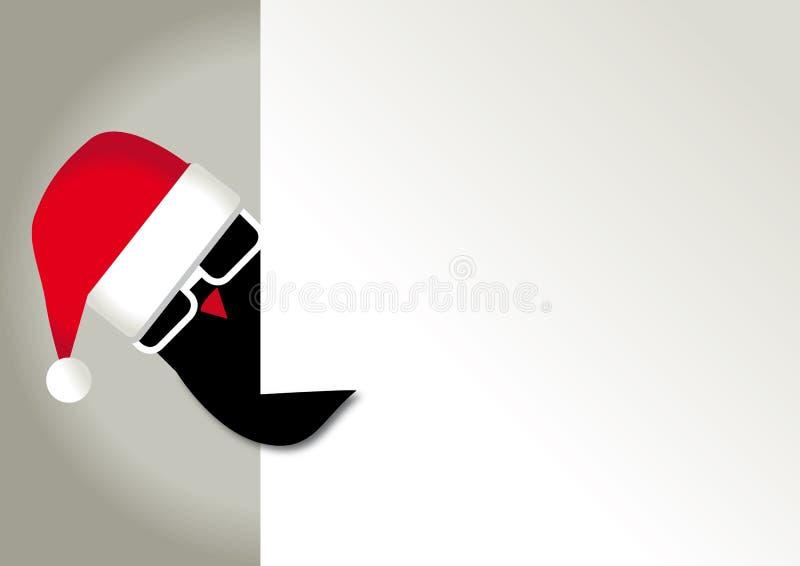 Bon de cadeau de Noël, paysage illustration libre de droits