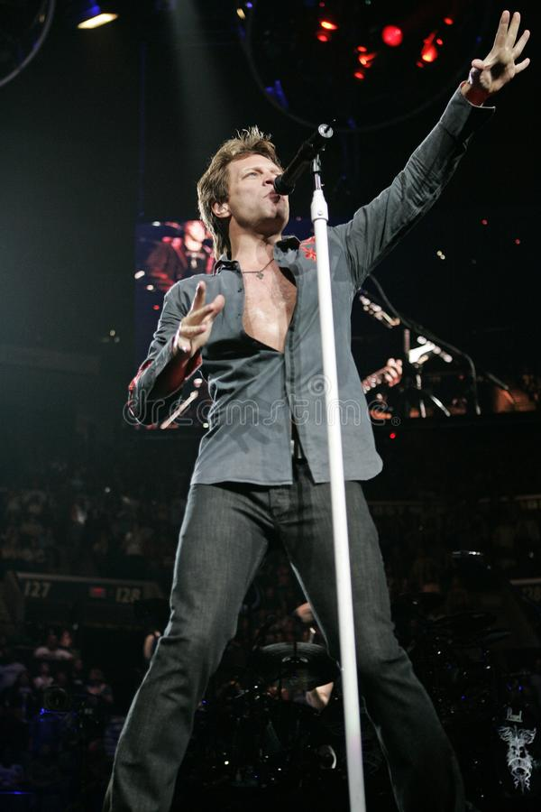 Bon Jovi esegue di concerto fotografia stock libera da diritti