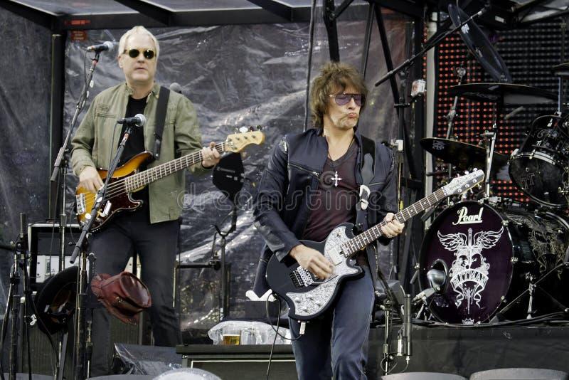 Bon Jovi leeft de Reis van 2011 stock foto's