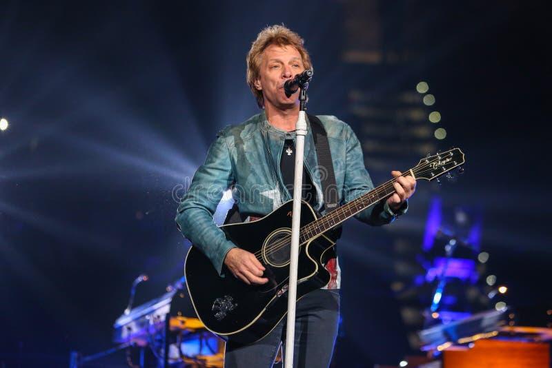 Bon Jovi levend in Overleg stock afbeeldingen