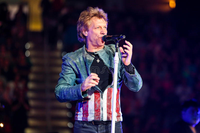 Download Bon Jovi live in Concert editorial stock image. Image of group - 35076554