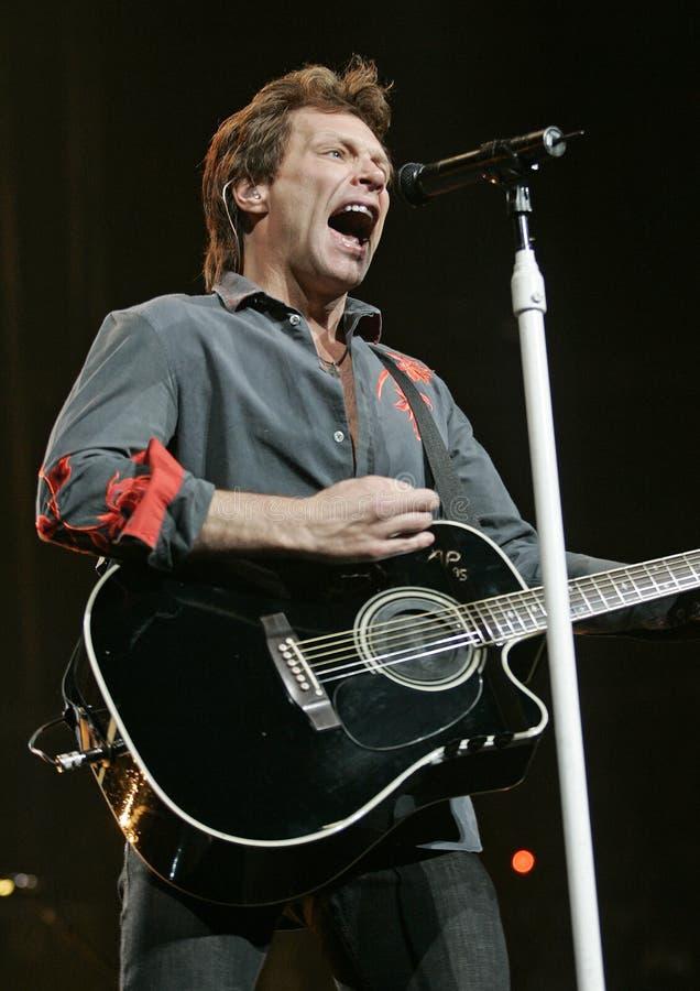 Bon Jovi presteert in overleg royalty-vrije stock foto