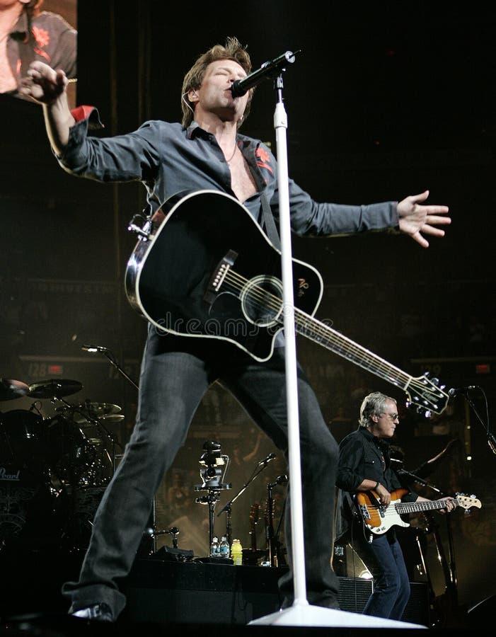 Bon Jovi presteert in overleg royalty-vrije stock afbeelding
